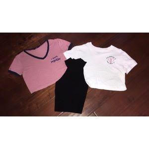 💞 Set of 3 Adorable Crop Tops 💞